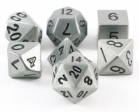 metal dice antique silver