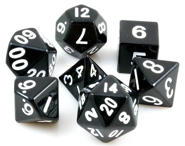 Metal RPG Dice Black