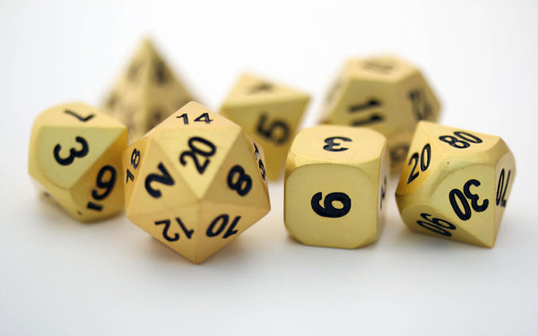 Gold D&D Dice