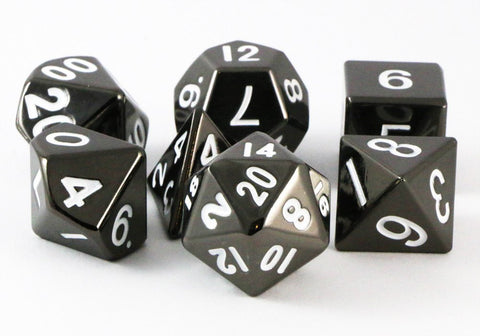 metal dice sterling gray