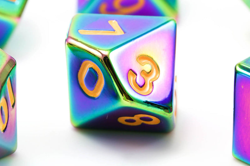 Metal Rainbow Dice