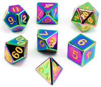 Metal Rainbow D&D Dice