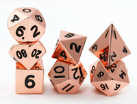 Miniature Metal RPG Dice Copper