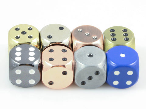 Metal D6 Dice with Pips