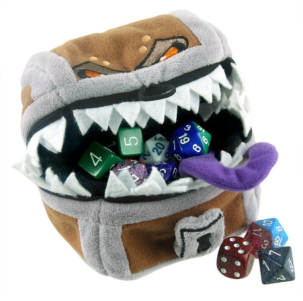 D Amp D Mimic Dice Bag Rpg Gamer Pouch Dark Elf Dice
