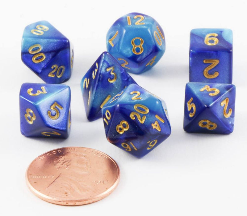 Mini RPG Dice Blue