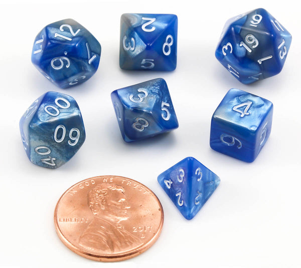 RPG Mini Dice Blue Steel