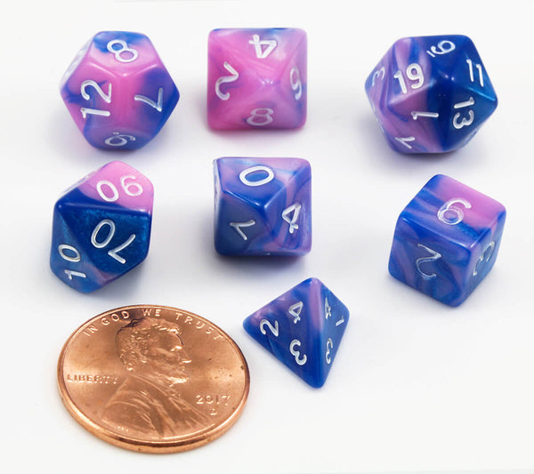 RPG Mini Dice Pink Blue