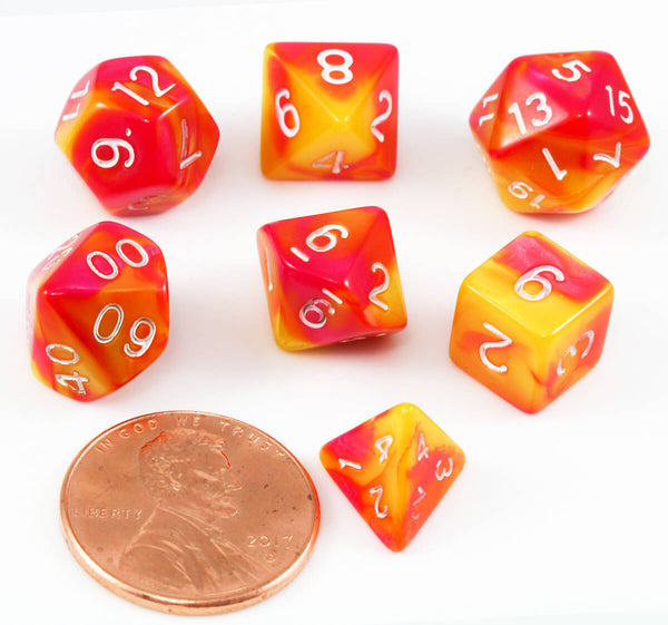 RPG Mini Dice Red Yellow