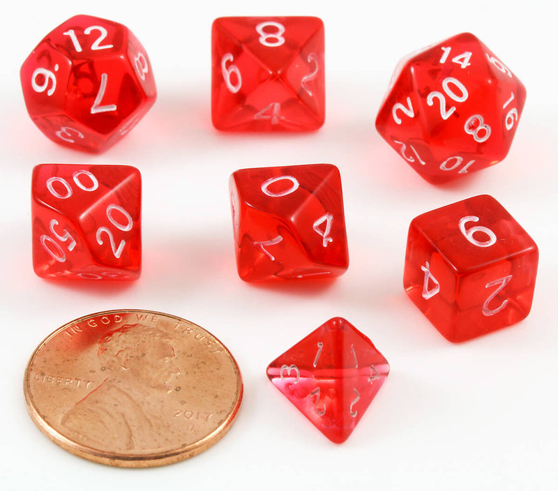 Mini D&D Dice red