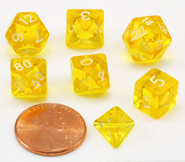 Mini D&D Dice Yellow