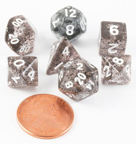 Mini Glitter Dice Ethereal Black