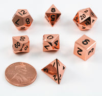 Mini DnD Dice Copper Metal