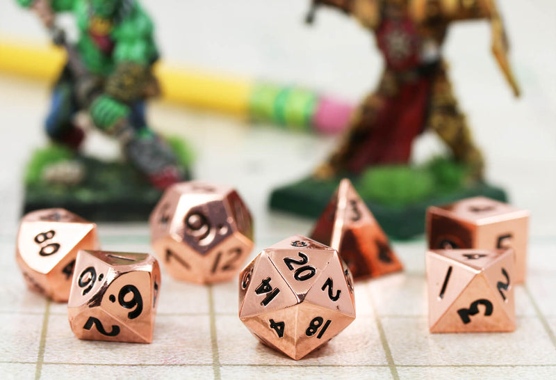 DnD Dice Metal Mini Copper