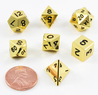 Mini DnD Dice Gold Metal