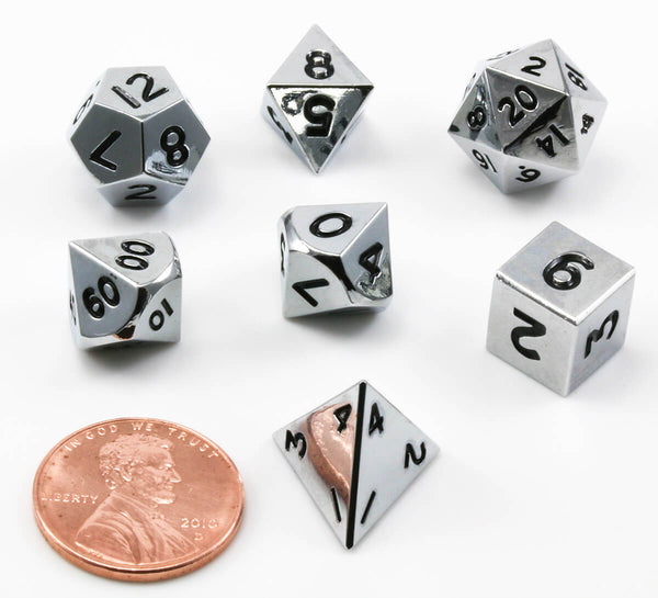 DnD Dice Metal Mini Silver