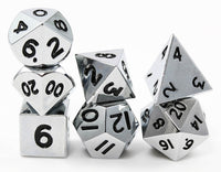 Miniature Metal RPG Dice Silver