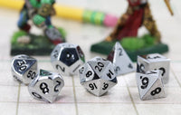 Mini DnD Dice Silver Metal