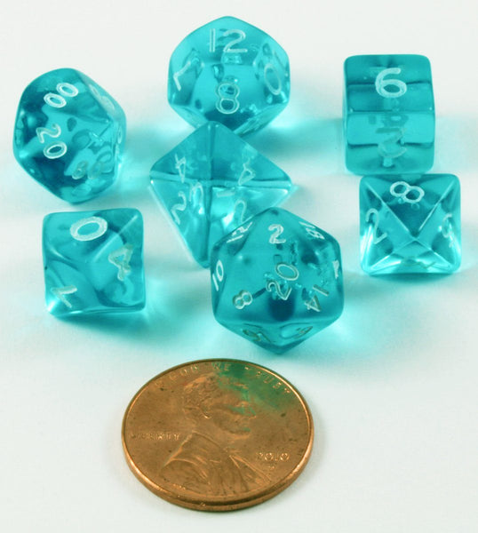 Mini D&D Dice teal