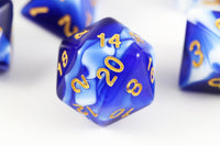Cool D&D Dice Mystic Blue