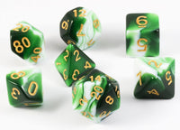 D&D Dice Mystic Green