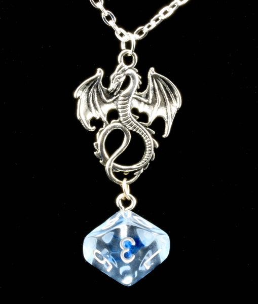 Nebula dice dragon necklace