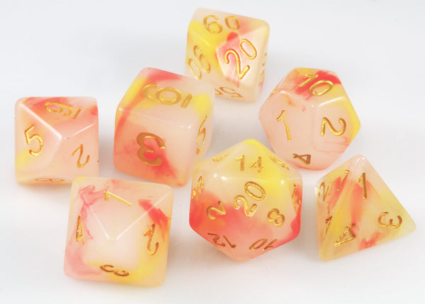 Nemesis Dice Orange Yellow