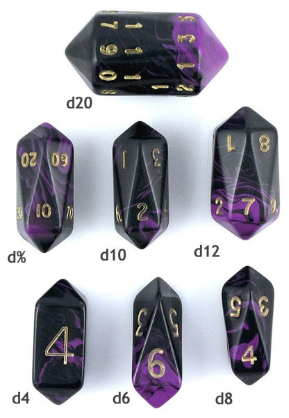 Oblivion Crystal Dice Purple Rpg Role Playing Game