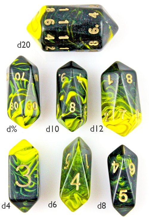 Crystal Dice Oblivion Yellow