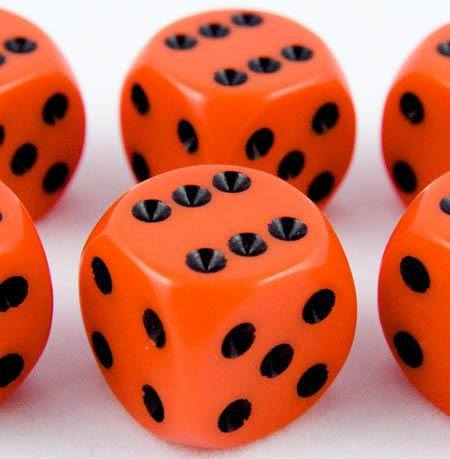 Opaque D6 Dice Orange