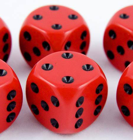 Opaque D6 Dice Red
