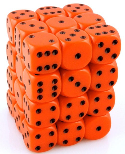 Opaque D6 Mini Dice Orange