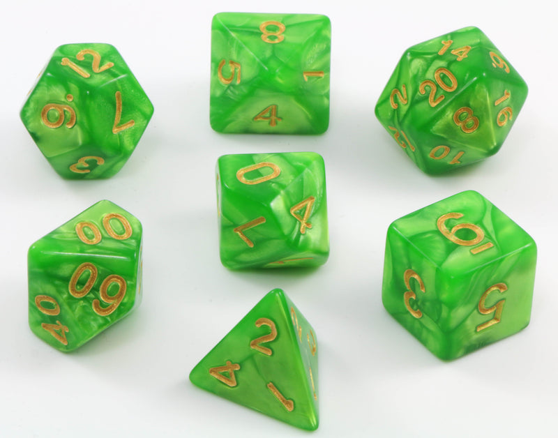 D&D Green Dice Set