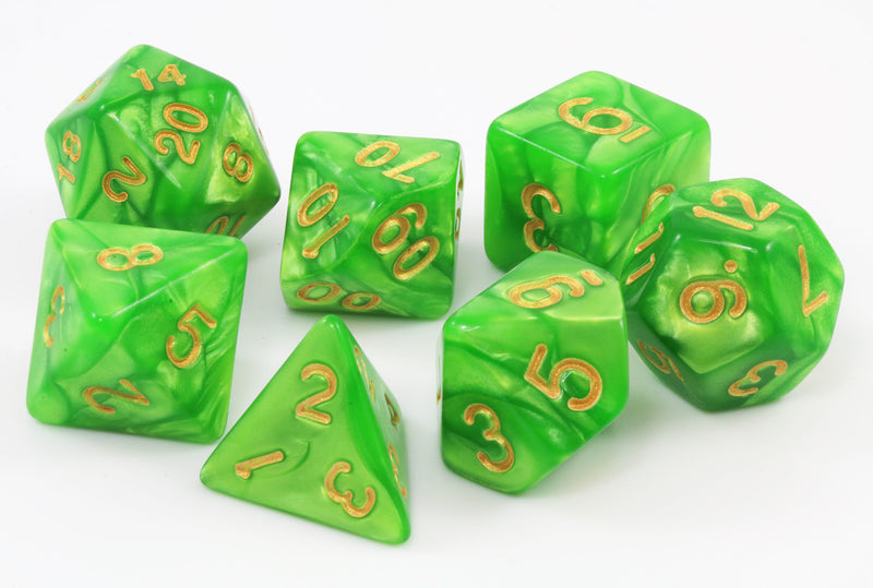 Awesome dnd dice green