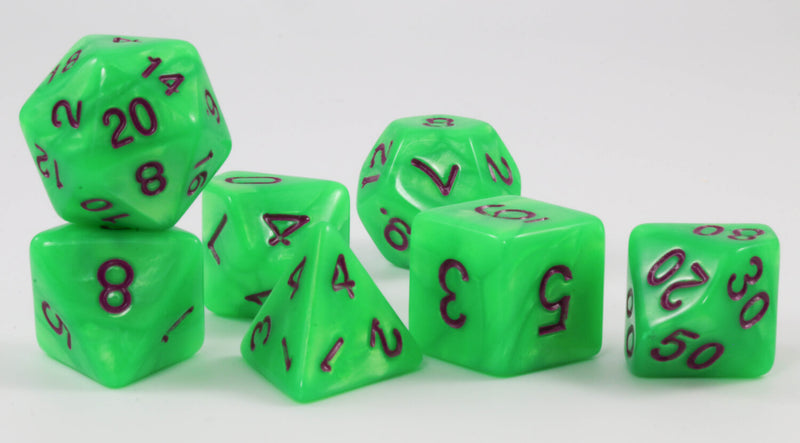 Pearl Green DnD Dice