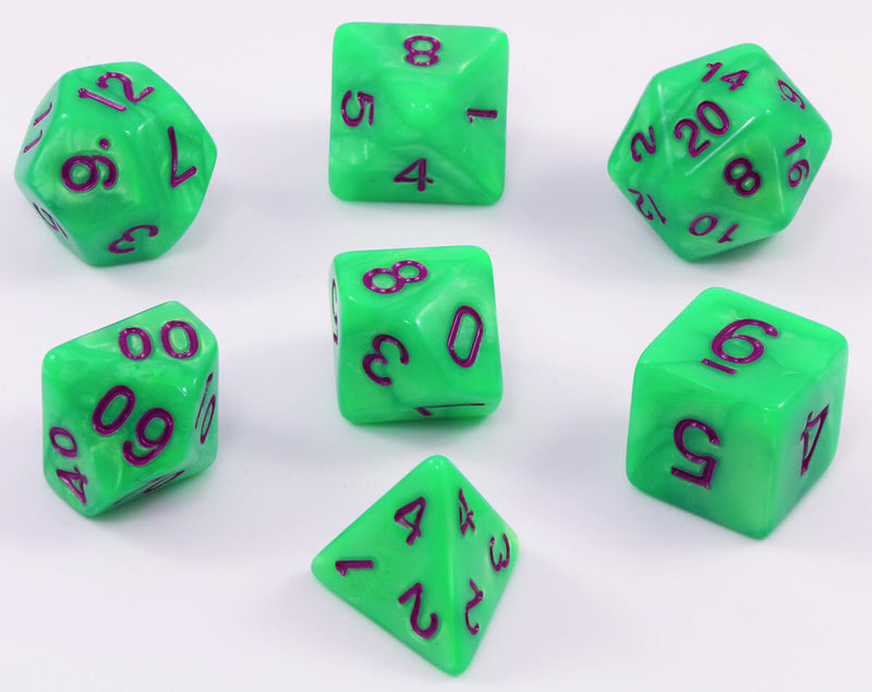 RPG dice Nitro Green