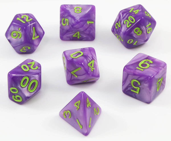 RPG grimoire purple dice