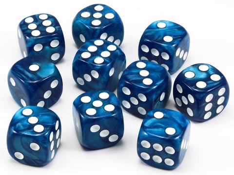 Blue dice six sided