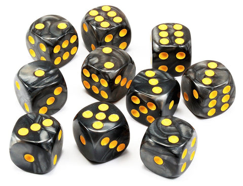Black dice six sided