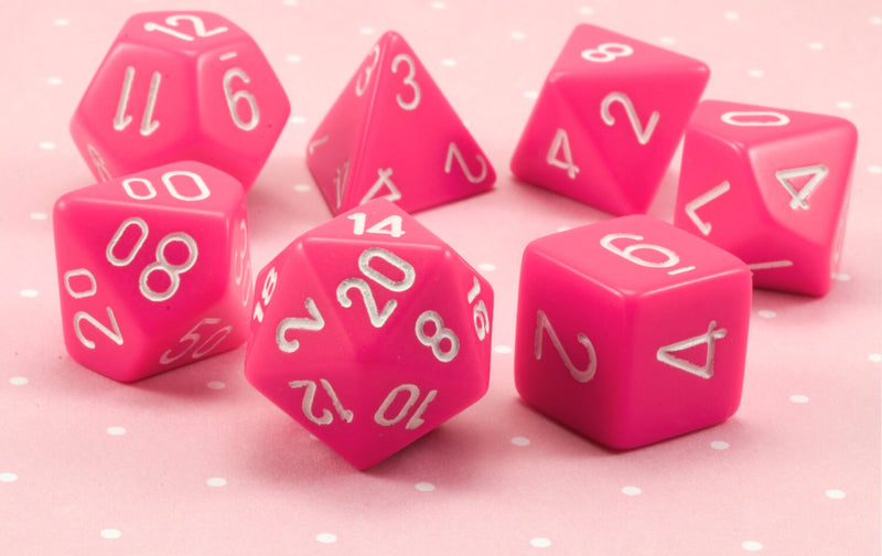 Pink dice for dungeons and dragons