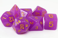 Purple D&D Dice
