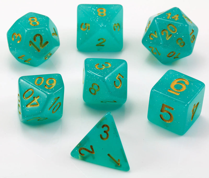 Sea Green D&D dice