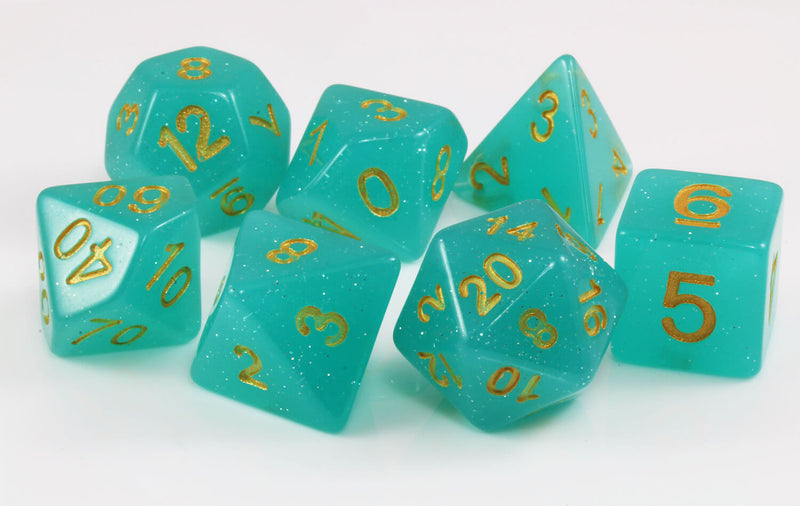 RPG sea green dice