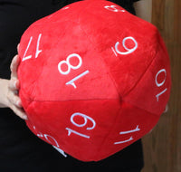 Jumbo Plush D20 (Red With White Numbers)