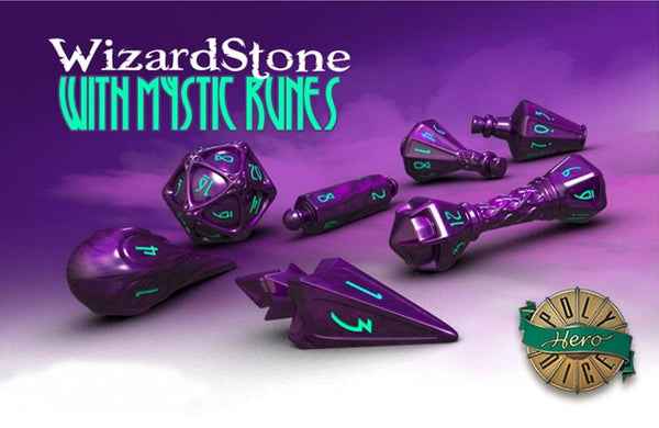 Polyhero Wizard Dice Wizard Stone with Mystic