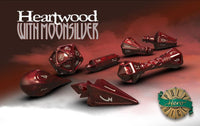 Polyhero Wizard Dice Heartwood Silver