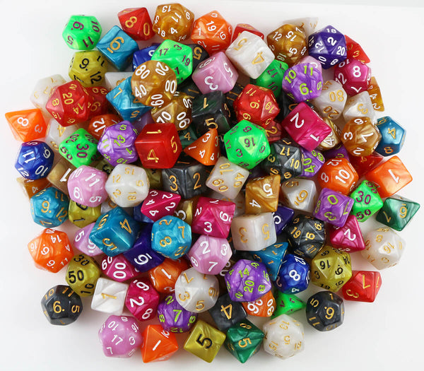 Valhalla Pound of Pearl Dice | Bulk 1 Pound Pearl RPG Dice Assortment