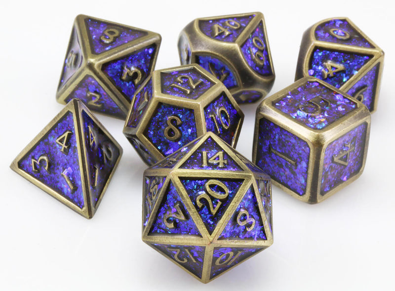 Prismatic dice blue bronze 2
