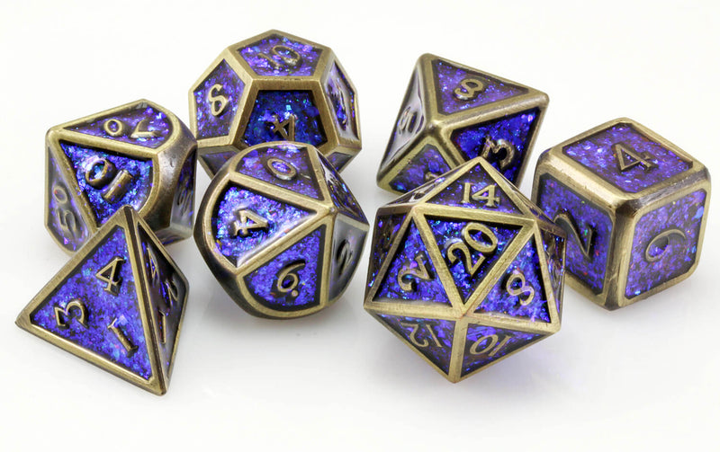 Prismatic dice blue bronze