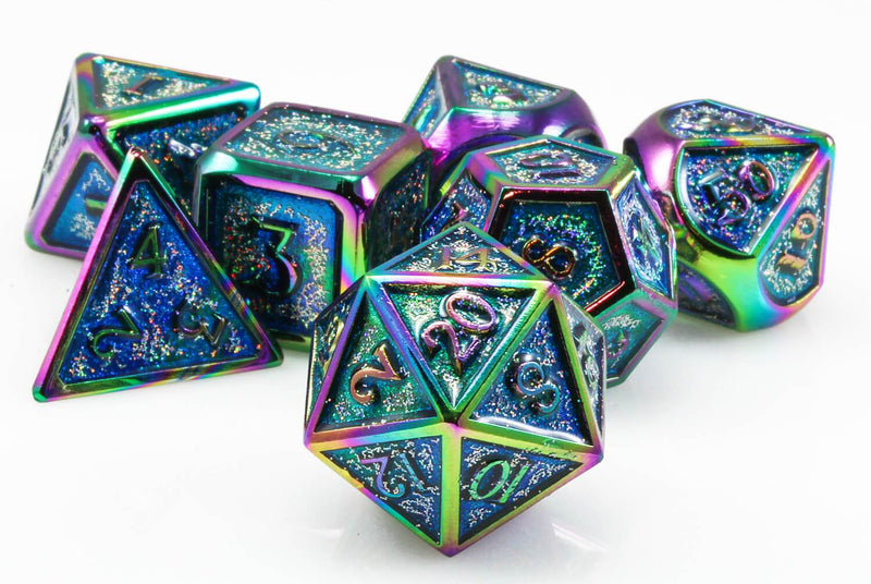 Prismatic RPG dice Teal